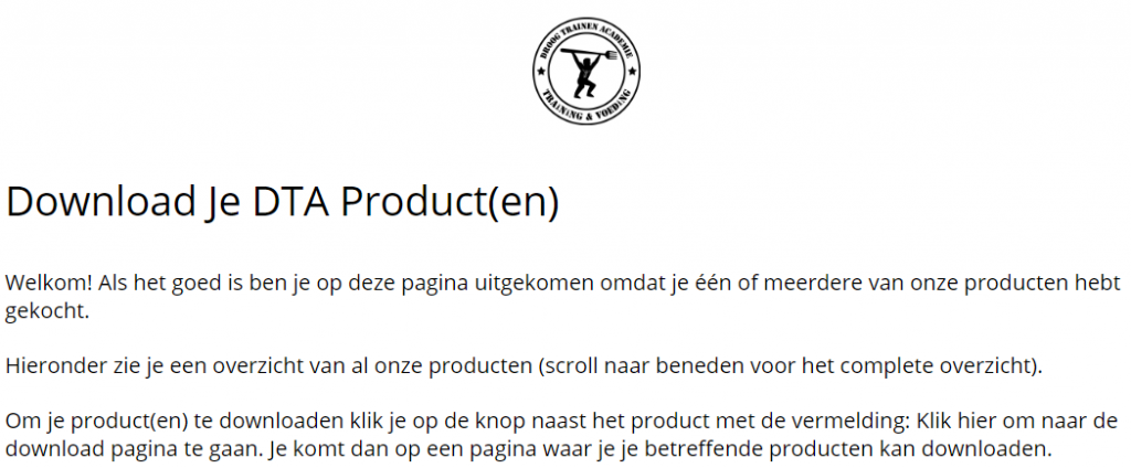 download je DTA product