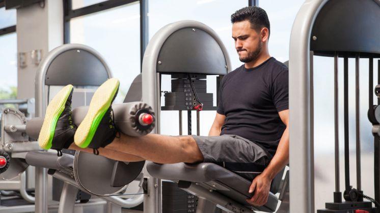 benen trainen: leg extension