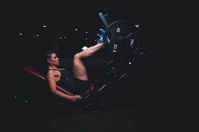 benen trainen: legpress oefening