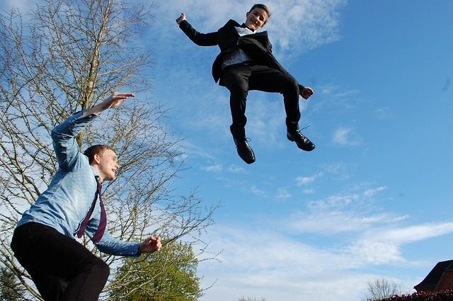 trampoline jongens