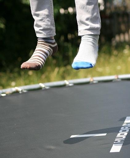 trampoline springen afvallen